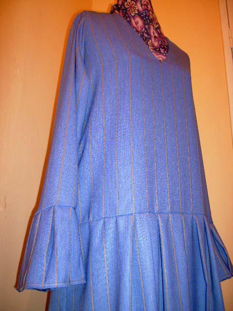 Pinstripe Pleats Abaya