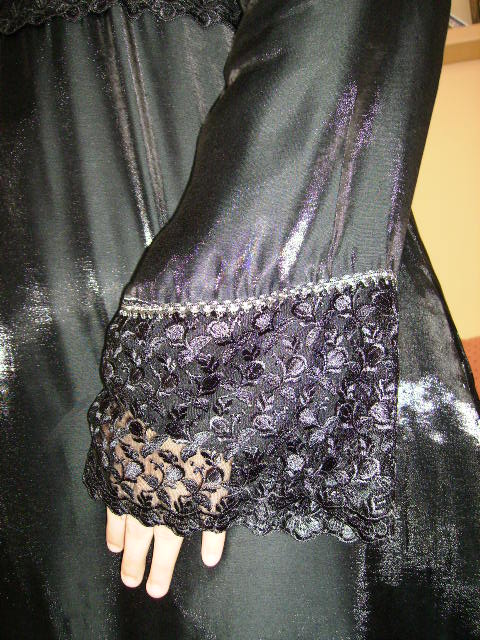 Lace Cuffs & Silver Trim Detail