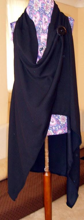 Black Jersey Cardigon