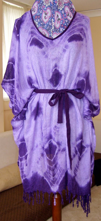 customised headscarf to caftan top