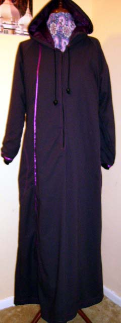 Purple Sports Abaya