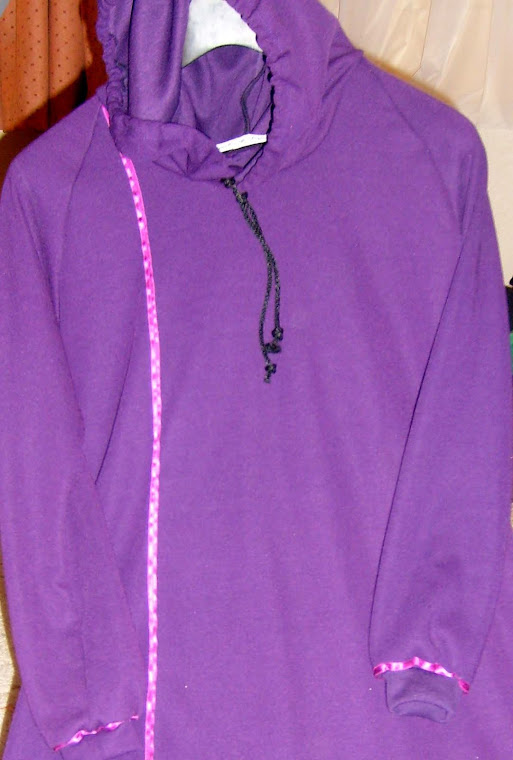 Childs Hoody Abaya Purple