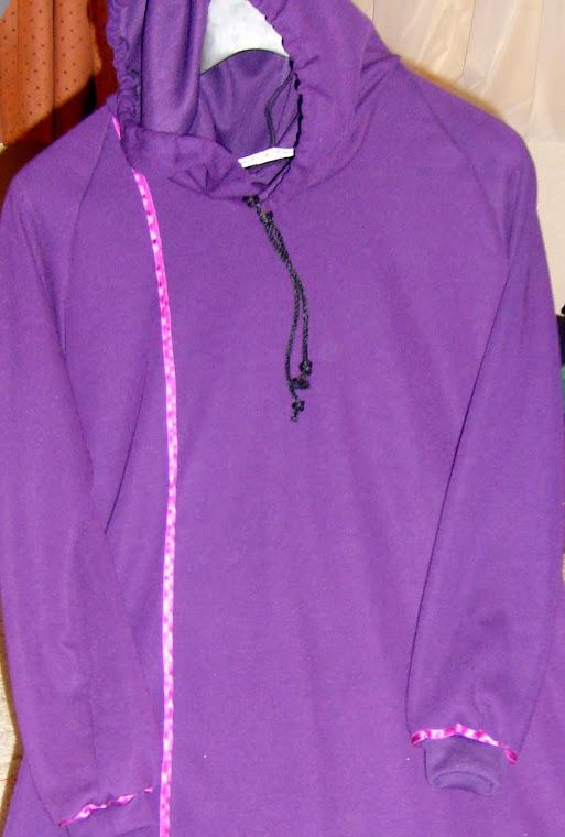 Childs Hoody Abaya Purple