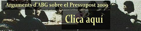 Arguments Pressupost 2009
