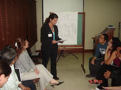 Staff en un taller de desarrollo personal