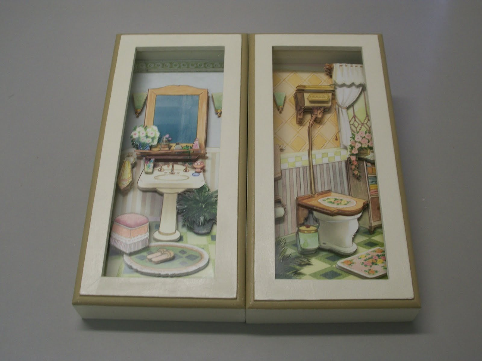 Artesanato Geraldi ~ Fenix Artesanato quadros lavabo
