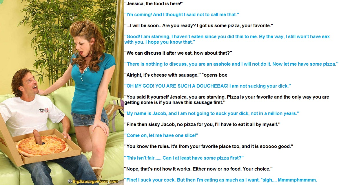 Sissy's Humiliating Pizza Pick-up September 13, By Richard Evans Lee 2 Comments This sissy husband will subject himself to public humiliation when he goes to the pizza .