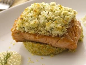 Feta Encrusted Salmon