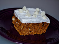 White Chocolate Pumpkin Cake
