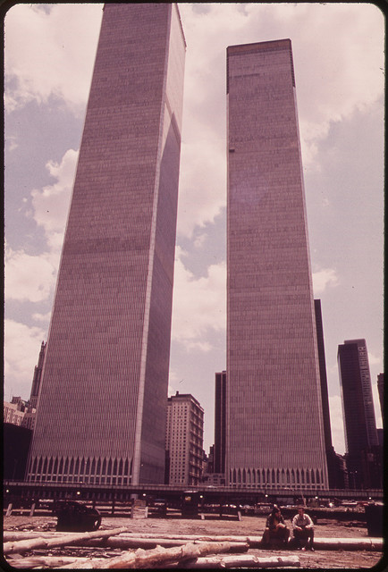 The U.S. National Archives - Towers of the World Trade Center in Lower Manhattan Seen From West Street 05-1973