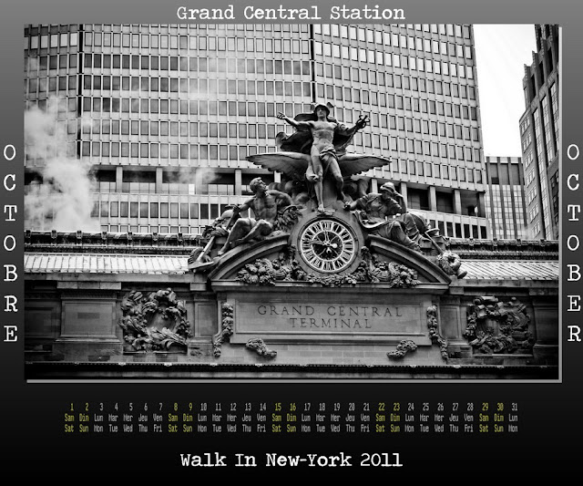 Calendar New York 2011 - 10 October 2011 - Grand Central Station
