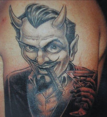 If you are looking for a blue devil tattoo, does that mean you are a bad