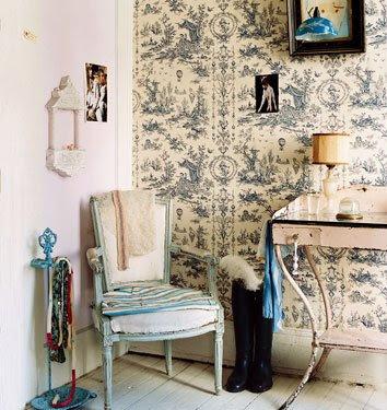 Natalie 39 s sketchbook toile de jouy wallpaper - Toile de jouy decoration ...