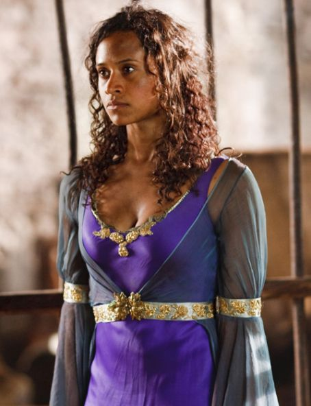 Guinevere forced to dress and pose as 39Lady Morgana 39
