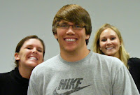 Pictured left to right Julie Hays, Matthew Moore, and Julie Szteiter
