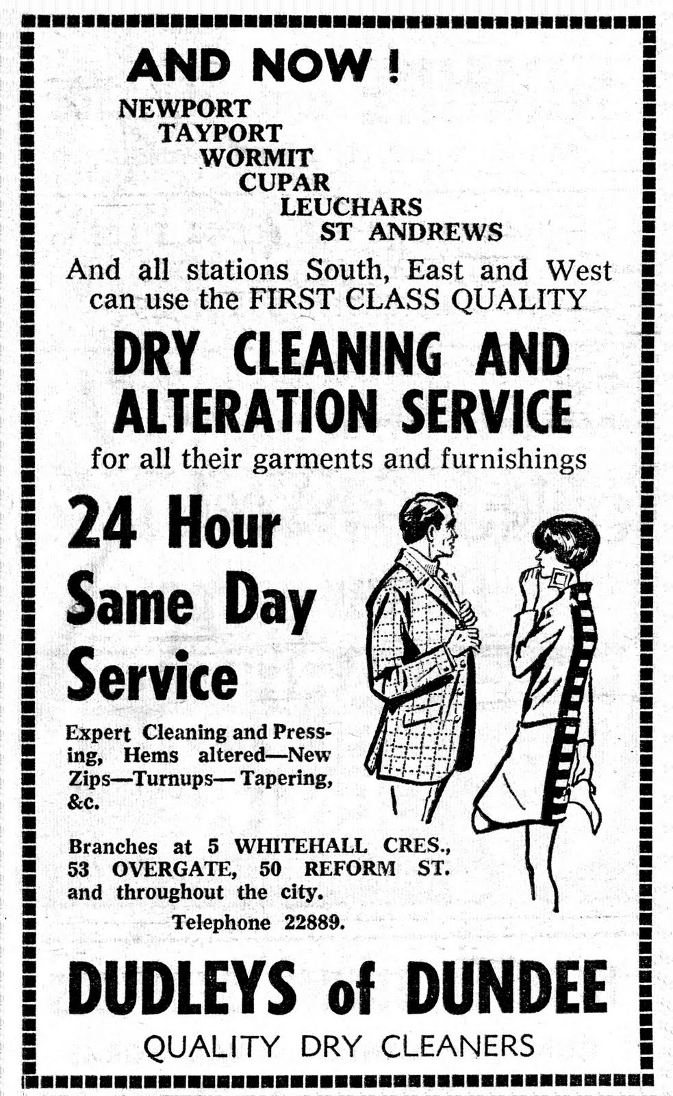 retro dundee dudleys ad 1966 dudleys ad 1966