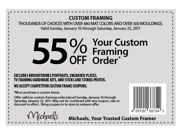 Michaels coupons for framing