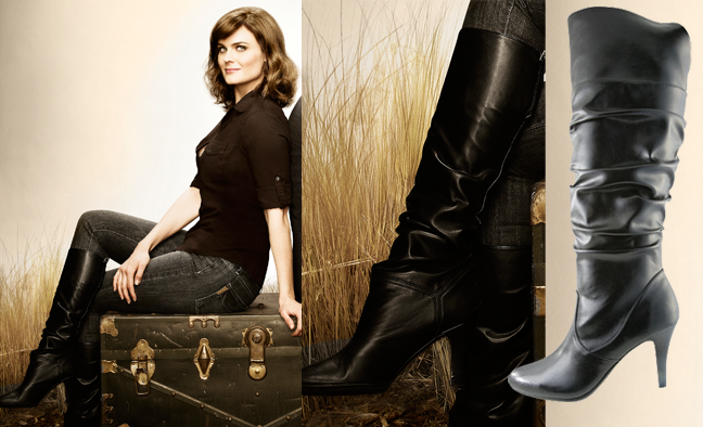 Deschanel style tlfl bones season 6 promo poster brennan s boots