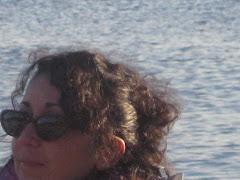 Teresa en la playa Los Molinos