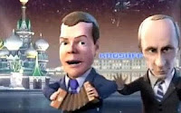 Medvedev Putin Song and Dance Animation New Year 2010!
