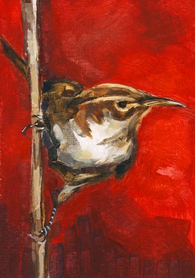 "Oil on paper 3.5"" x 5"" - sold"