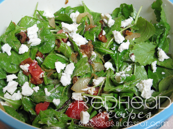 Redhead Recipes: Arugula and Goat Cheese Salad