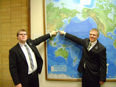 Greg and his MTC companion, Elder Rowe