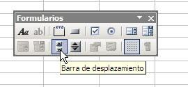 selección de barra de desplazamiento en Excel