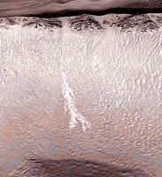 Vesinoro marsilaisessa kraaterissa?