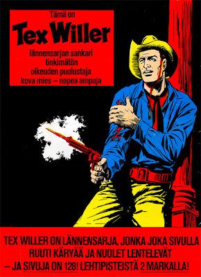 Tex Willer -mainos vuodelta 1971