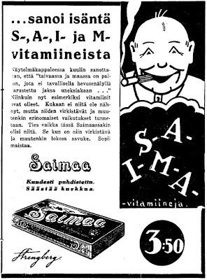 Tupakassa on S-A-I-M vitamiineja!