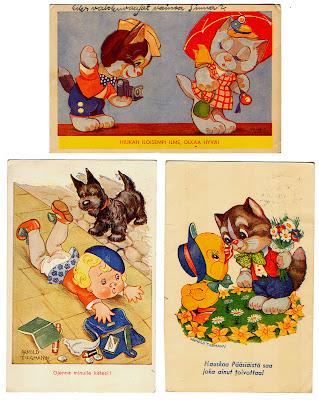 Arnold Tilgmann: postikortteja (1940-luku)