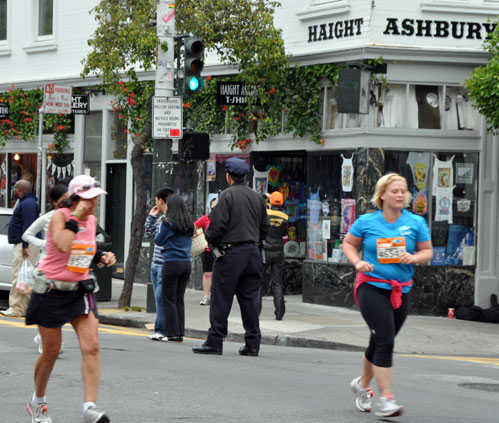 Haight Ashbury Street. we crossed Ashbury St.
