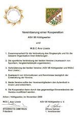Αδελφοποιημένος ΣύλλογοςANO LIOSIA WRESTLING-ASV 08  huettigweiler