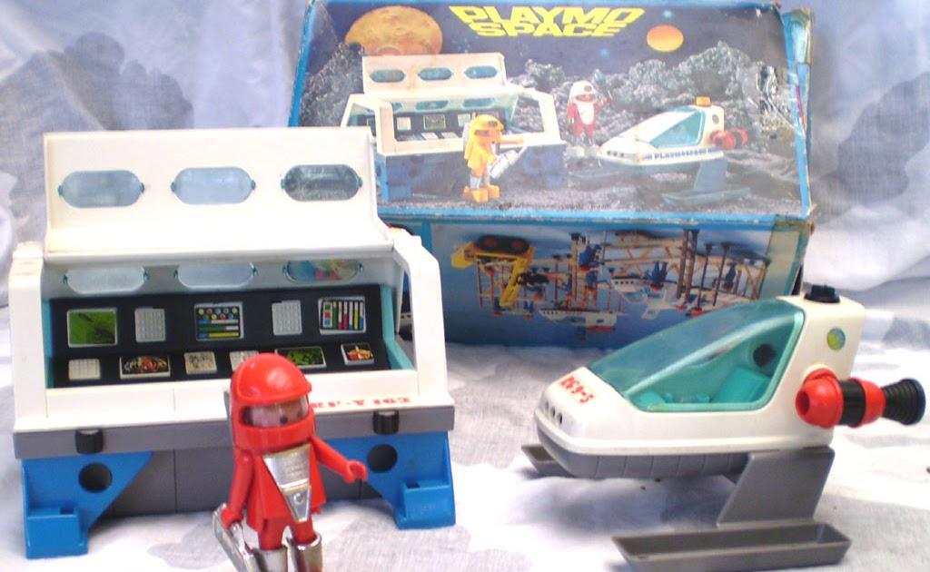 Brinquedos antigos playmobil esta o e nave espacial for Nave espacial playmobil