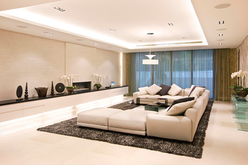 Interior Design: Luxury Interior Design living room with modern sofa