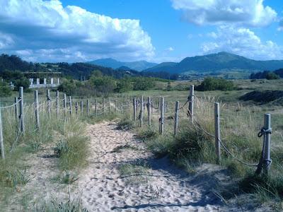 camino de paso entre las dunas de Somo