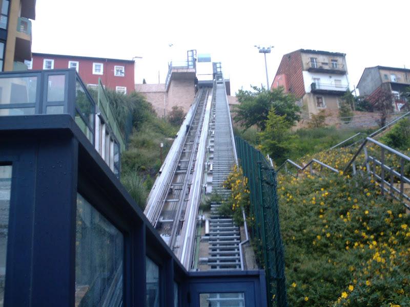 Funicular en la calle Río de la Pila en Santander