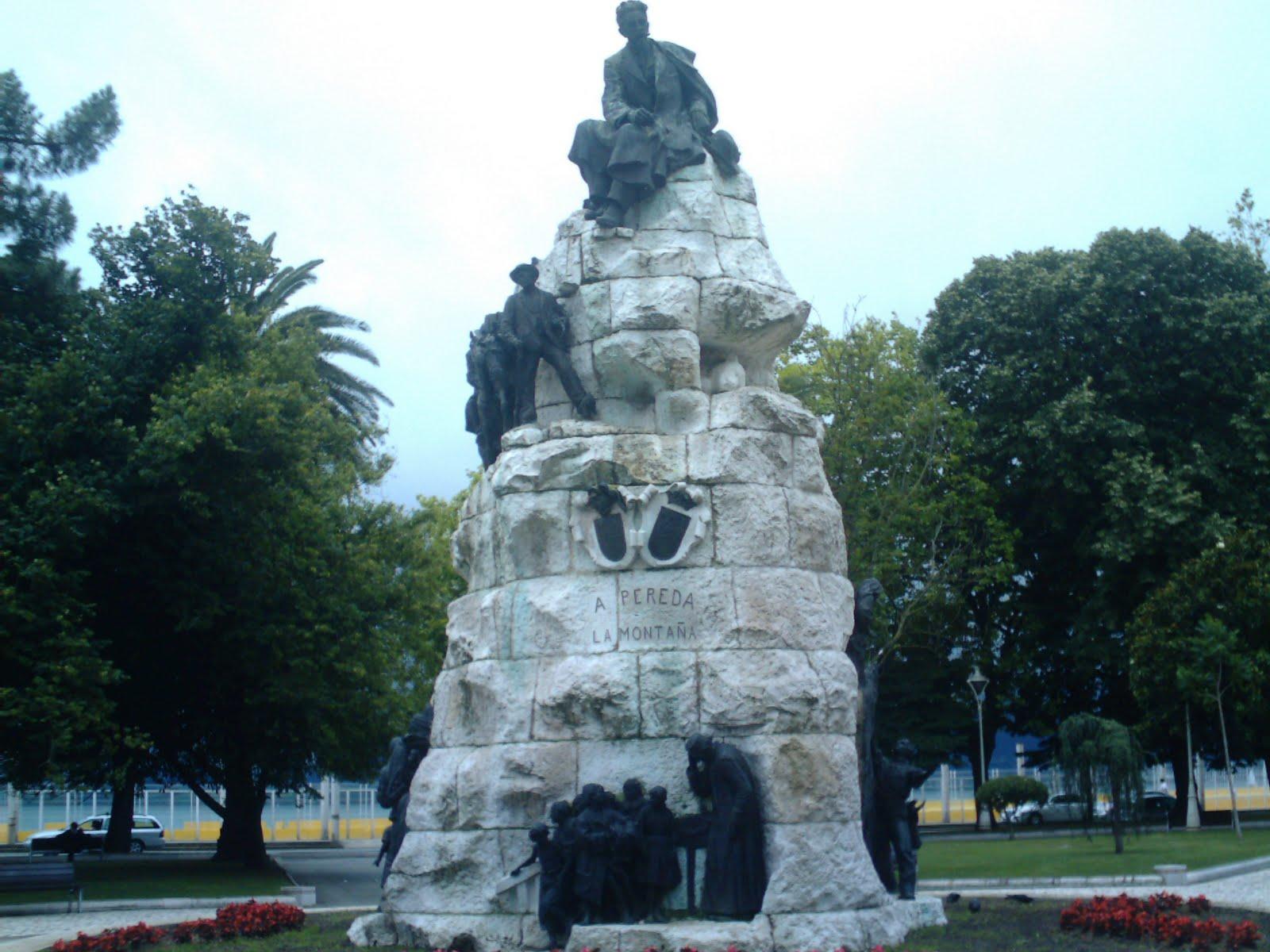 La ciudad habla monumento a jos maria de pereda for Jardines de pereda