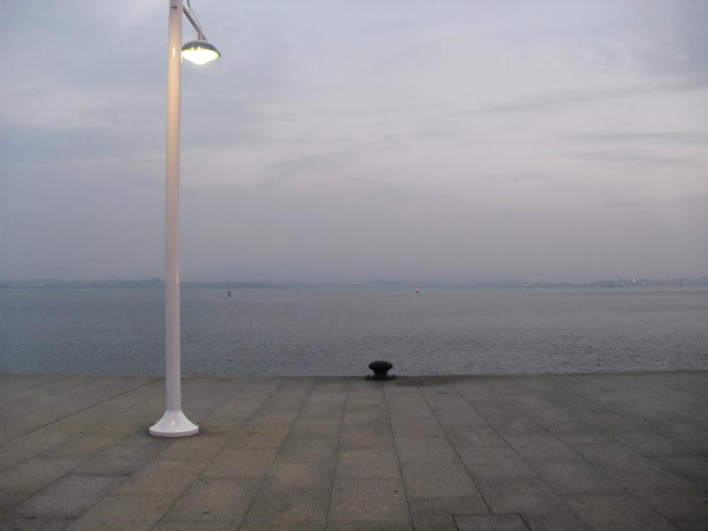Bahía de Santander al anochecer