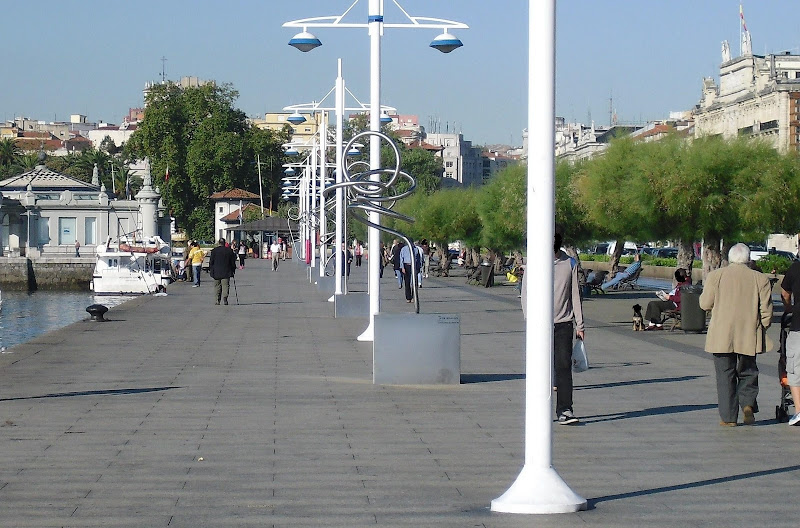 Paseo del Muelle de Calderón en Santander