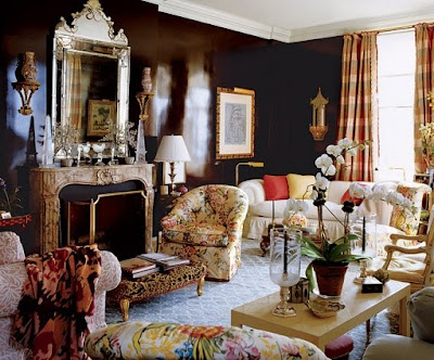 Site Blogspot  Dark Brown Furniture Living Room on Add Light Reflection To This Living Room Designed By Mario Buatta