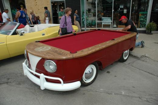Volkswagen Car with a billiards table
