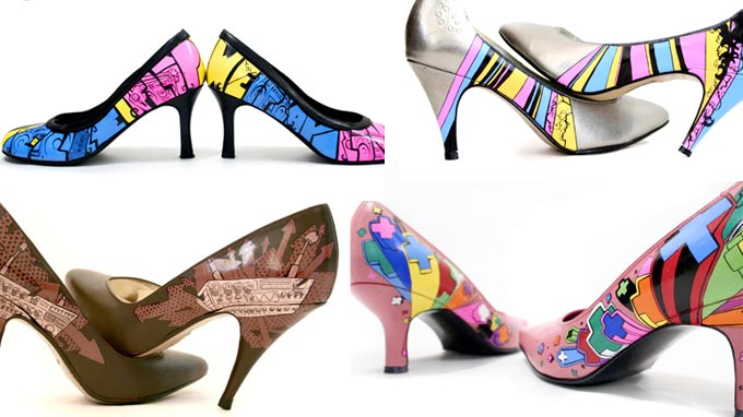 Graffiti on the heels