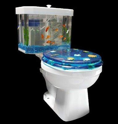 Creative flush toilet Aquarium