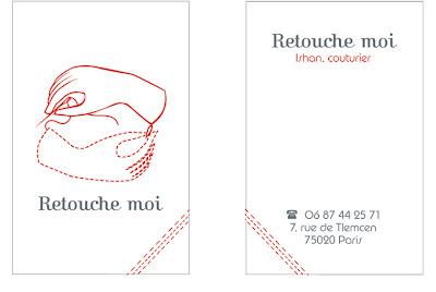 Cest Lhistoire Dun Petit Couturier De Quartier Qui Voulait Une Carte Visite Et Un Joli Visuel Avec Voila Le Resultat Logo Sur Jeu Mains