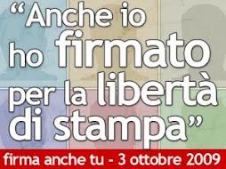 Adesione alla manifestazione del 3 ottobre a Roma