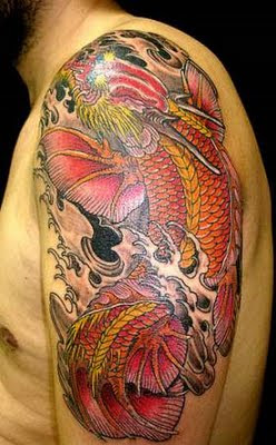 Sketch of Japanese Dragon Tattoo 4