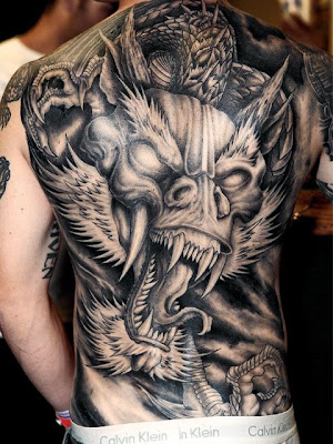 Sketch of Japanese Dragon Tattoo 1
