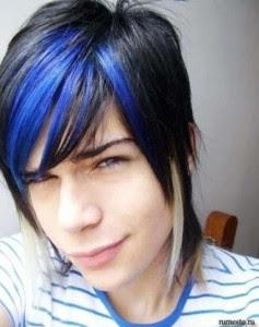 The emo hairstyle varies